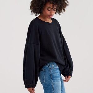 7 for all Mankind Puff Sleeve Sweatshirt NWT